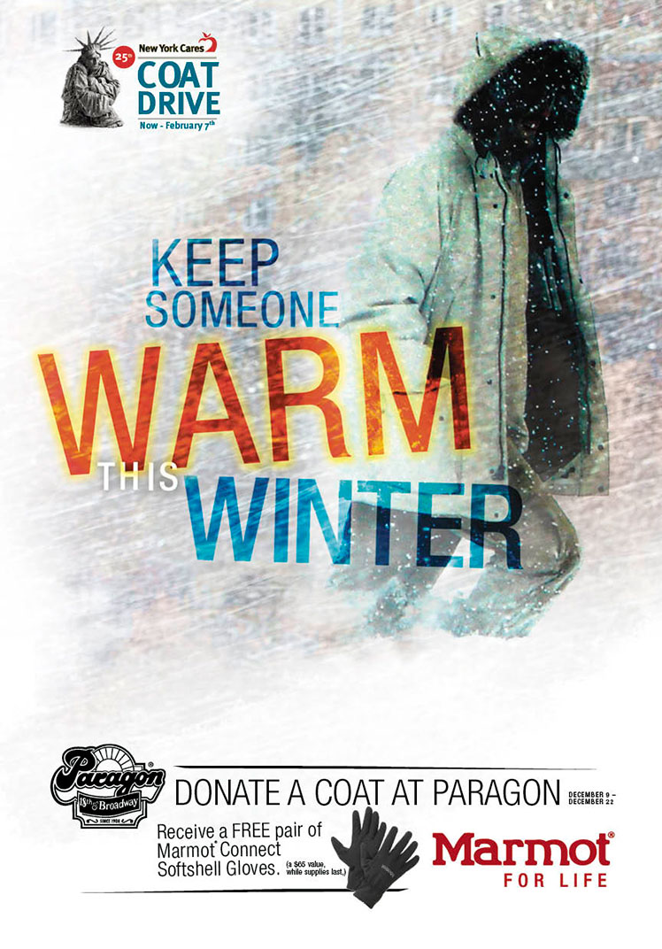 Donate a Coat at Paragon, New York