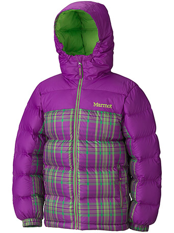 Girl's Guides Down Hoody - Plaid
